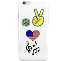 Peace Love Music iPhone Case/Skin