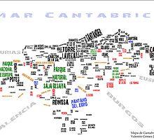 Mapa de Cantabria Estelado (+Riaño) by vaywatch