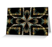 Black Orchid_Kaleidoscope Card Greeting Card