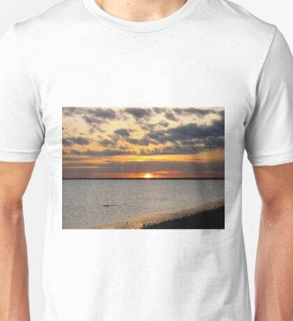 January Sunset on the Gulf of Mexico Unisex T-Shirt