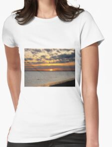 January Sunset on the Gulf of Mexico Womens Fitted T-Shirt