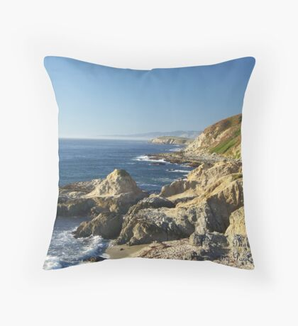 Bodega Bay Headlands Throw Pillow