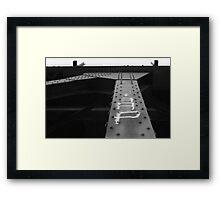 Trestle Beams Framed Print