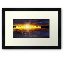 Sunset by the River Framed Print
