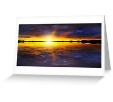 Sunset by the River Greeting Card