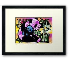 Panda and Baby Framed Print