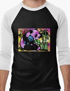 Panda and Baby Men's Baseball ¾ T-Shirt