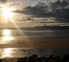 Sunset on Rossbeigh Beach by PrestoConn