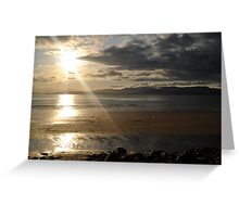 Sunset on Rossbeigh Beach Greeting Card