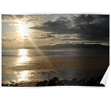 Sunset on Rossbeigh Beach Poster