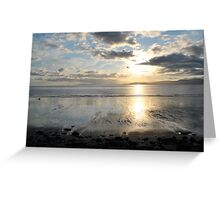 Sunset on Dingle Bay, Rossbeigh Beach Greeting Card