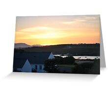 Sunset in Baltimore, County Cork Greeting Card