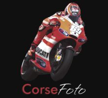 Nicky Hayden T-Shirt/Sticker by corsefoto
