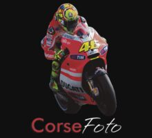 Valentino Rossi T-Shirt/Sticker by corsefoto