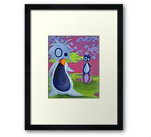 Penguin Ball Framed Print