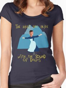 Hills are alive with the Sound of Drums Women's Fitted Scoop T-Shirt