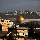 Dome of the Rock Sunset, Jerusalem by johnnabrynn