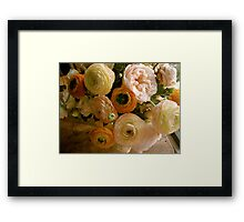 Pink and Peach Framed Print