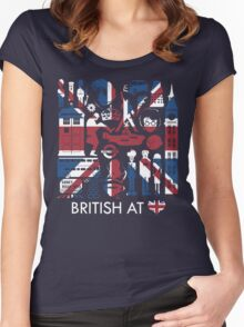 British @ Heart Women's Fitted Scoop T-Shirt