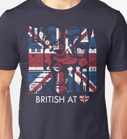 British @ Heart Unisex T-Shirt