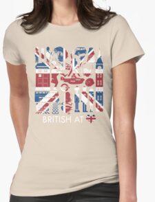 British @ Heart Womens Fitted T-Shirt