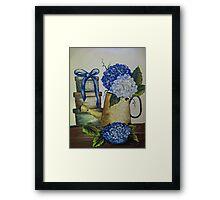 Blue Hydrangeas - Acrylic Framed Print