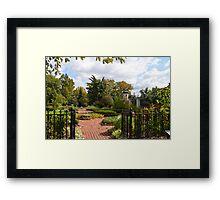 Open Gate to an Herb Garden Framed Print