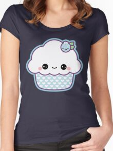 Cute Blueberry Cupcake Women's Fitted Scoop T-Shirt