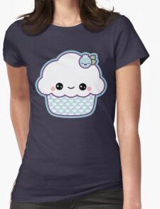 Cute Blueberry Cupcake Womens Fitted T-Shirt