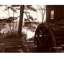 Old Sturbridge Village Mill Wheel, Autumn 2011 Photographic Print