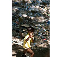 Rubbish Rambo Photographic Print