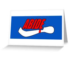 ABIDE logo - Air Lebowski II Greeting Card