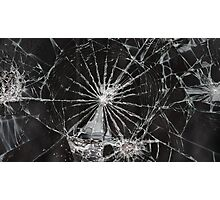 cracked screen Photographic Print
