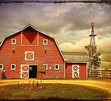 Red Heritage Barn by Teresa Zieba