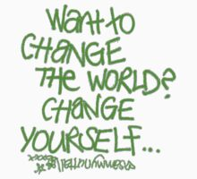 Want To Change The World? : sticker by Sammy Nuttall