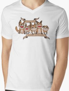 Loth Cats Against Imperialism Mens V-Neck T-Shirt