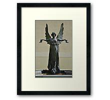 Beautiful Angel Sculpture Fountain Framed Print