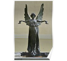 Beautiful Angel Sculpture Fountain Poster