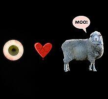 I love ewe - greeting card by Scott Mitchell