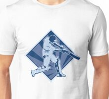 cricket player batsman batting retro Unisex T-Shirt