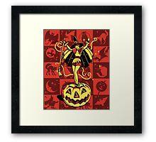 Halloween Witch Girl (vintage) Framed Print