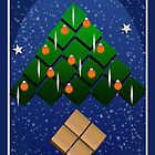 Geometric Christmas Tree by elledeegee