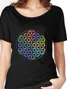 Flower of Life - Multi-Colour Women's Relaxed Fit T-Shirt