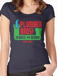 PLUMBER BROS! Women's Fitted Scoop T-Shirt