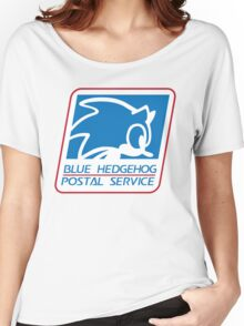 BLUE HEDGEHOG POSTAL SERVICE Women's Relaxed Fit T-Shirt