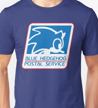 BLUE HEDGEHOG POSTAL SERVICE Unisex T-Shirt