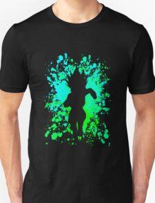 hunter x hunter gon paint splatter anime manga shirt T-Shirt