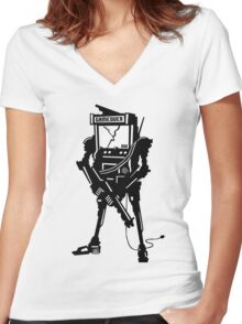 ARCADE BOT! Women's Fitted V-Neck T-Shirt
