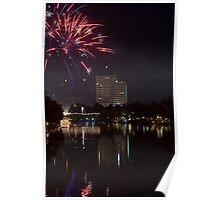 Fireworks - Chang Mai, Thailand Poster