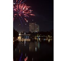 Fireworks - Chang Mai, Thailand Photographic Print